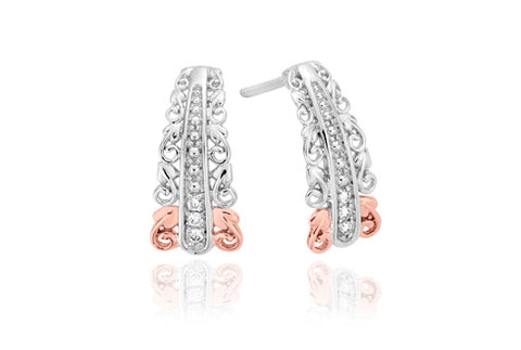 Clogau - Am Byth Tapered Diamond Earrings 3SABE03 xxx