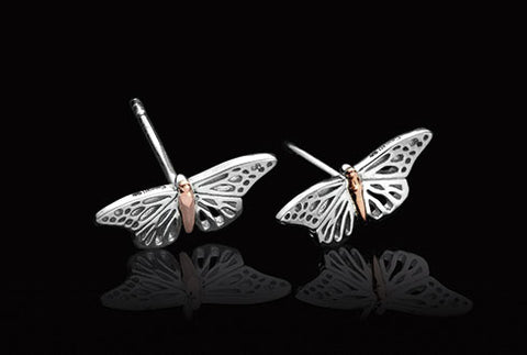 Clogau - Butterfly Stud Earrings 3SBWLE01