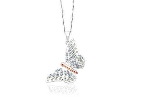 Clogau - Butterfly Pendant Necklace 3SBWPR xxx