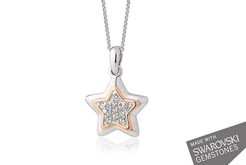 Clogau - David Emanuel Star Pendant Necklace 3SDESN