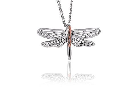 Clogau - Damselfly Pendant Necklace 3SDFP04