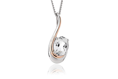 Clogau - Serenade White Topaz Pendant Necklace 3SEMPP