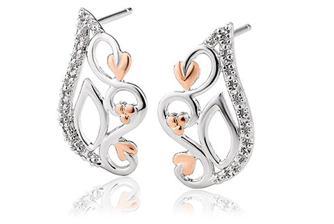 Clogau - Masque White Topaz Stud Earrings 3SMQE