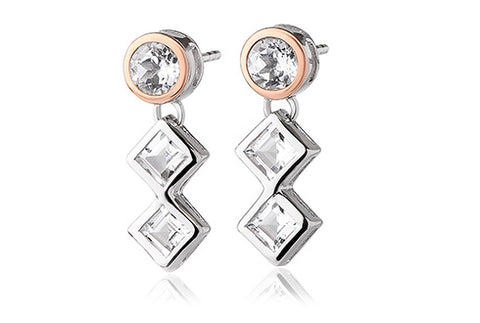 Clogau - Welsh Royalty Anniversary White Topaz Earrings 3SQAE