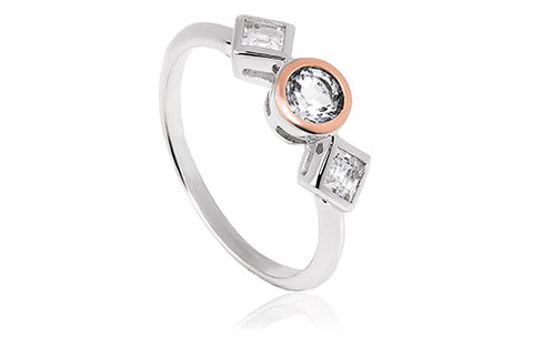 Clogau - Welsh Royalty Anniversary White Topaz Ring 3SQAR