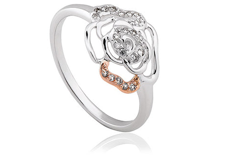 Clogau - Royal Roses White Topaz Ring 3SRORR3