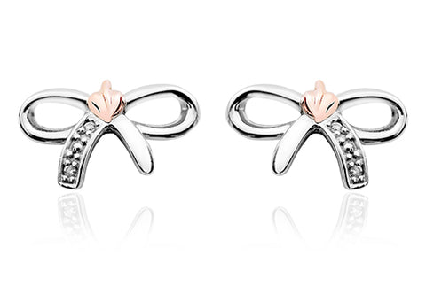 Clogau - Tree Of Life Bow Stud Earrings 3STOLBE xxx