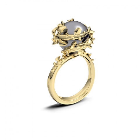Kasun Gold Fairytale Pearl Ring Size I 4401023