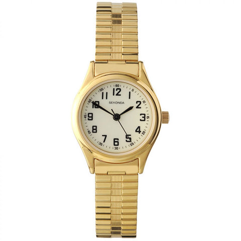 Sekonda Gold Plated Ladies Bracelet Watch 4244 1006048