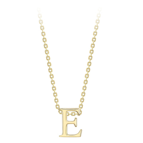 9ct Gold Initial E Pendant IN10-E 0302420