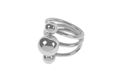 Tianguis Jackson Sterling Silver Triple Ball Ring R0918 0408052