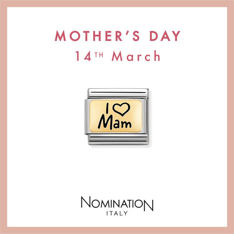 Nomination Limited Edition 18ct Gold & Enamel I Love Mam Charm 030166 03