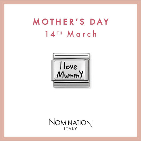 Nomination Limited Edition Silver & Enamel I Love Mummy Charm 330111 02