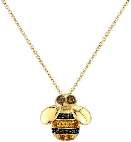 9ct Gold Diamond & Citrine Bee Pendant 6S51DCT 0302398