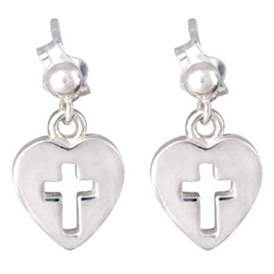 ChloBo - Cross in Heart Sterling Silver Earrings SEDR157 2203014