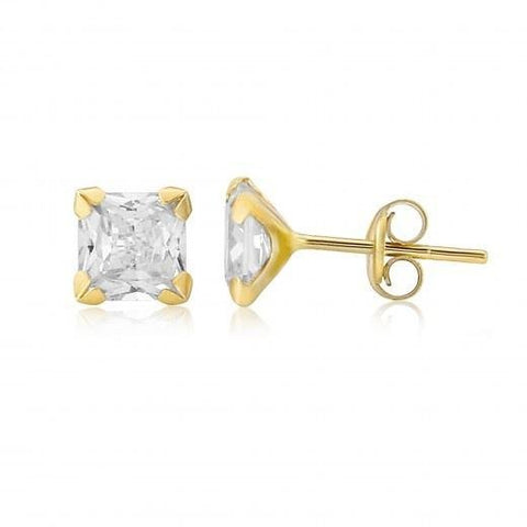 9ct Gold CZ Stud Earrings 8H93CZ 0303103