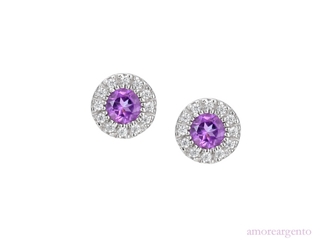Amore Sweet Violet Earrings 6069SILCZ/AM