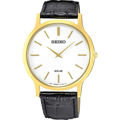 Seiko Black Leather Gents Solar Watch SUP872P1