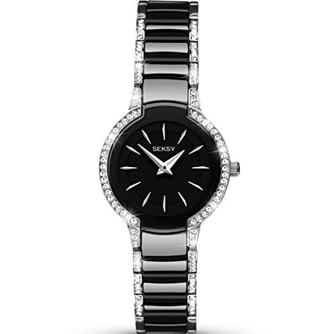 Sekonda Seksy Entice Ladies Black Ceramic Bracelet Watch 2380 1006272