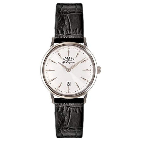 Rotary Les Originales Ladies Black Leather Strap Watch LS90050/02