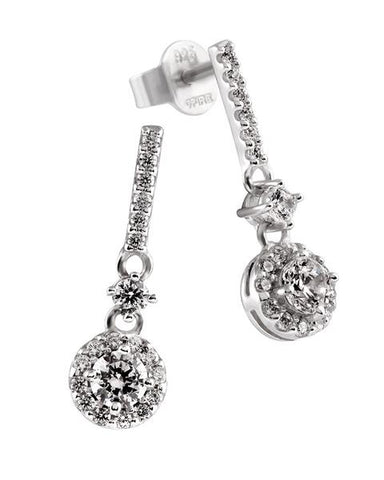 Diamonfire Sterling Silver with CZ Pendulum Drop Earrings 62/1745/1/082 2903087