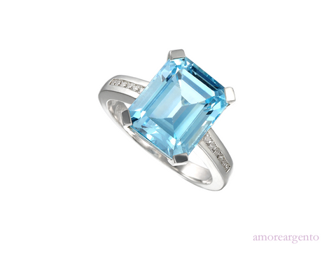 Amore Blue Lagoon Ring 6237