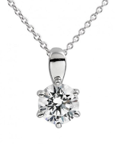 Diamonfire 1ct CZ Solitaire Pendant P4608 5704004