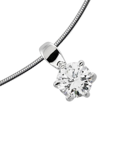 Diamonfire 0.75ct CZ Solitaire Pendant P4609 2910007
