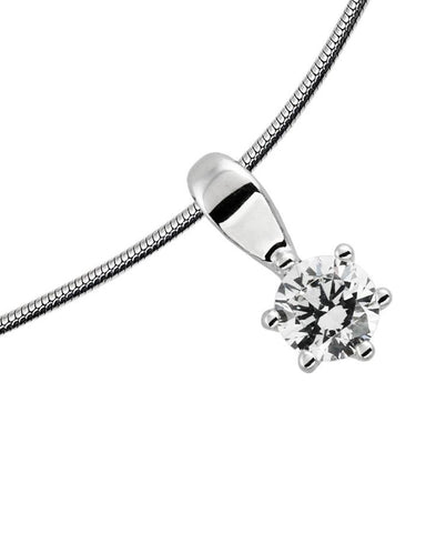 Diamonfire 0.50ct CZ Solitaire Pendant P4610 2910102