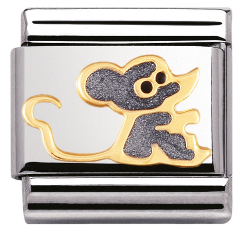 Nomination 18ct Gold & Enamel Mouse Charm 030212 47