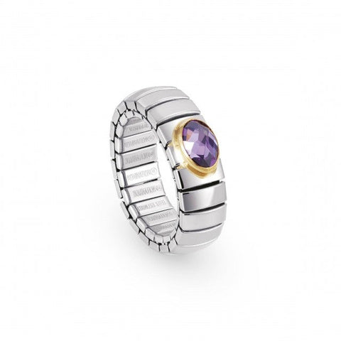 Nomination - Purple Stone Stretch Ring