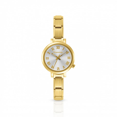 Nomination - Ladies Gold Plated Stainless Steel Watch with White Face 076020 017