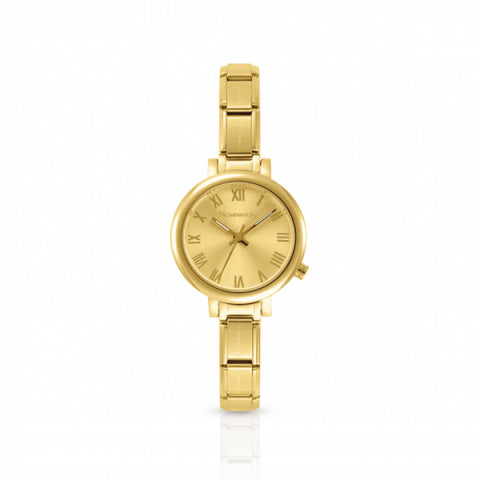 Nomination - Ladies Gold Plated Stainless Steel Watch with Gold Face 076020 019