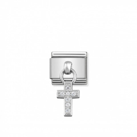 Nomination Hanging Silver & CZ Cross Charm 331800 04