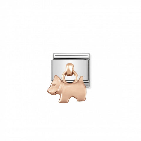 Nomination Hanging 9k Rose Gold Dog Charm 431800 09