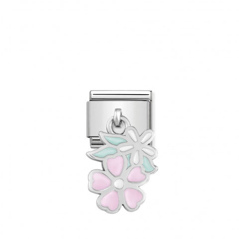 Nomination Hanging Pink & White Flower Charm 331805 10