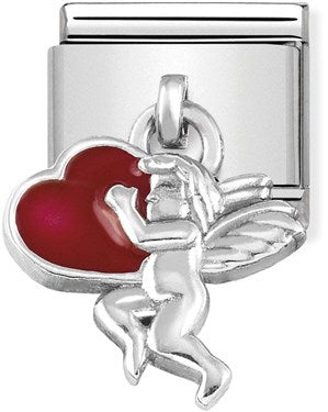 Nomination Hanging Cupid with Hearts Charm 331805 08