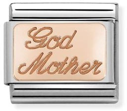 Nomination 9k Rose Gold God Mother Charm 430108 17