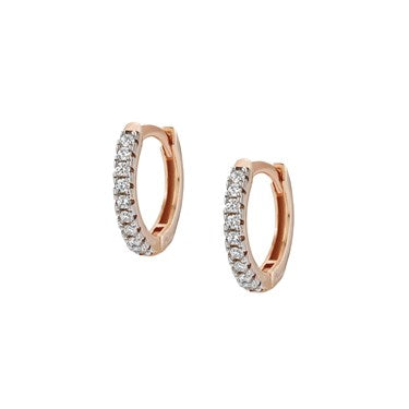 Nomination - Easychic Rose Gold Hoop Earrings with White CZ 147903 11