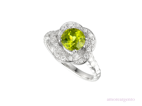 Amore Olive Green Ring 9093