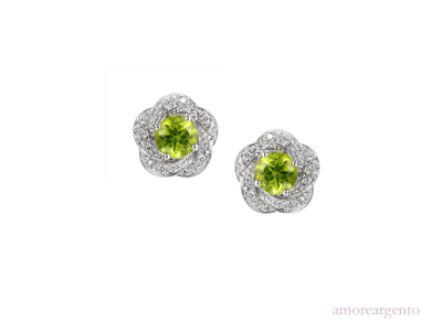 Amore Olive Green Earrings 9094