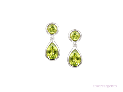 Amore Duo Vert Peridot Earrings 9104