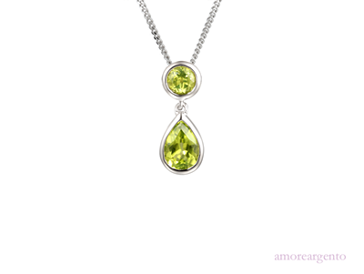 Amore Duo Vert Peridot Necklace 9105