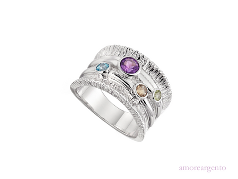 Amore Sterling Silver Gemma Concerto Ring 9126