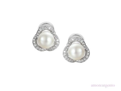 Amore Dewdrop Clip Earrings 9130