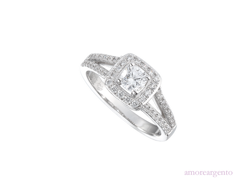 Amore Ice Ring 9153SILCZ-N