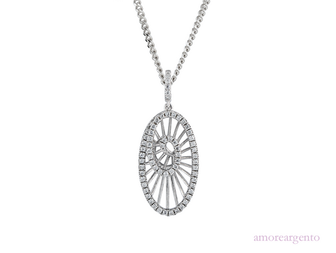 Amore Crackle Necklace 9190SILCZ