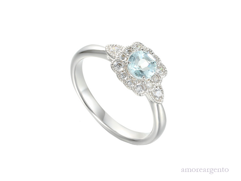 Amore Lovable Me Ring 9263SILCZ/AQ-N