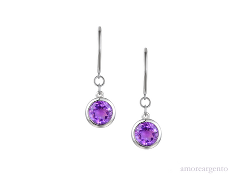 Amore Lunar Purple Earrings 9292SILAM
