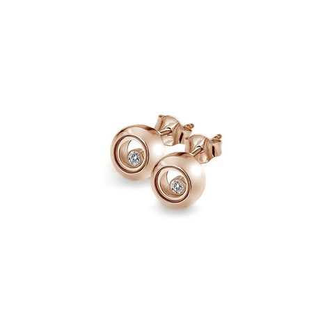 Hot Diamonds Anais Rose Gold Floating Circle Stud Earrings AE016 2003274